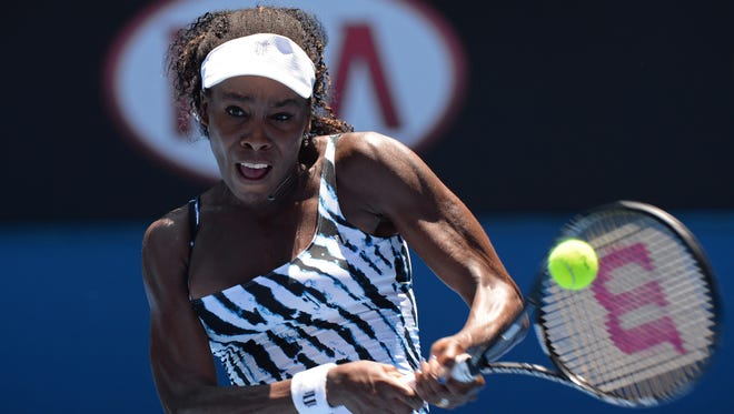Venus Williams shown playing in the  Australian Open in Melbourne earlier this year.