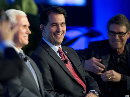 Scott Walker, Rick Perry, Mike Pence