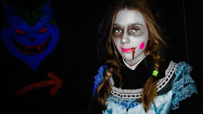 The Ghosts of Galloway Haunted House displays storybook or fairy tale story characters with a twist.