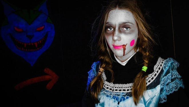 Ghosts of Galloway Haunted House 2014 displayed storybook or fairy tale story characters with a twist. This year's event will play on phobias.