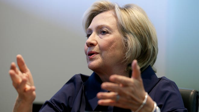Democratic presidential candidate Hillary Clinton speaks during an interview in 2015.