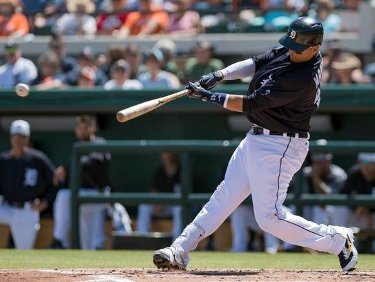Tigers designated hitter Victor Martinez.
