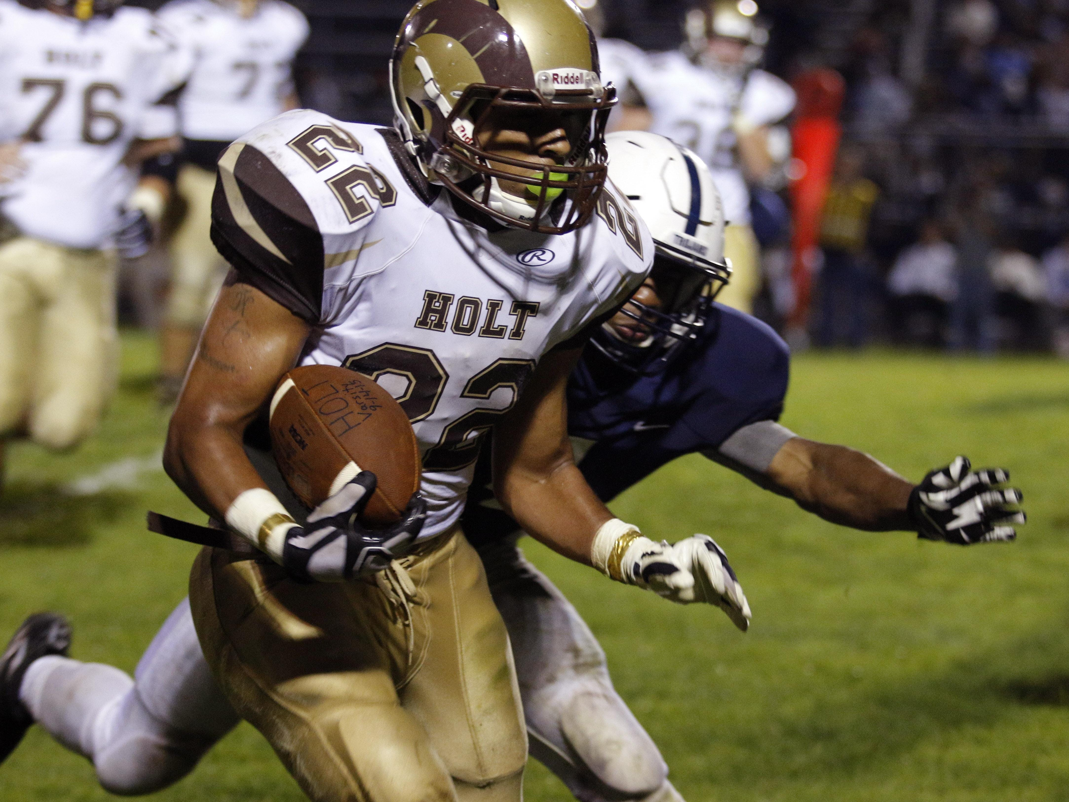 Holt's Trent Stone has rushed for 923 yards and 12 touchdowns this season.