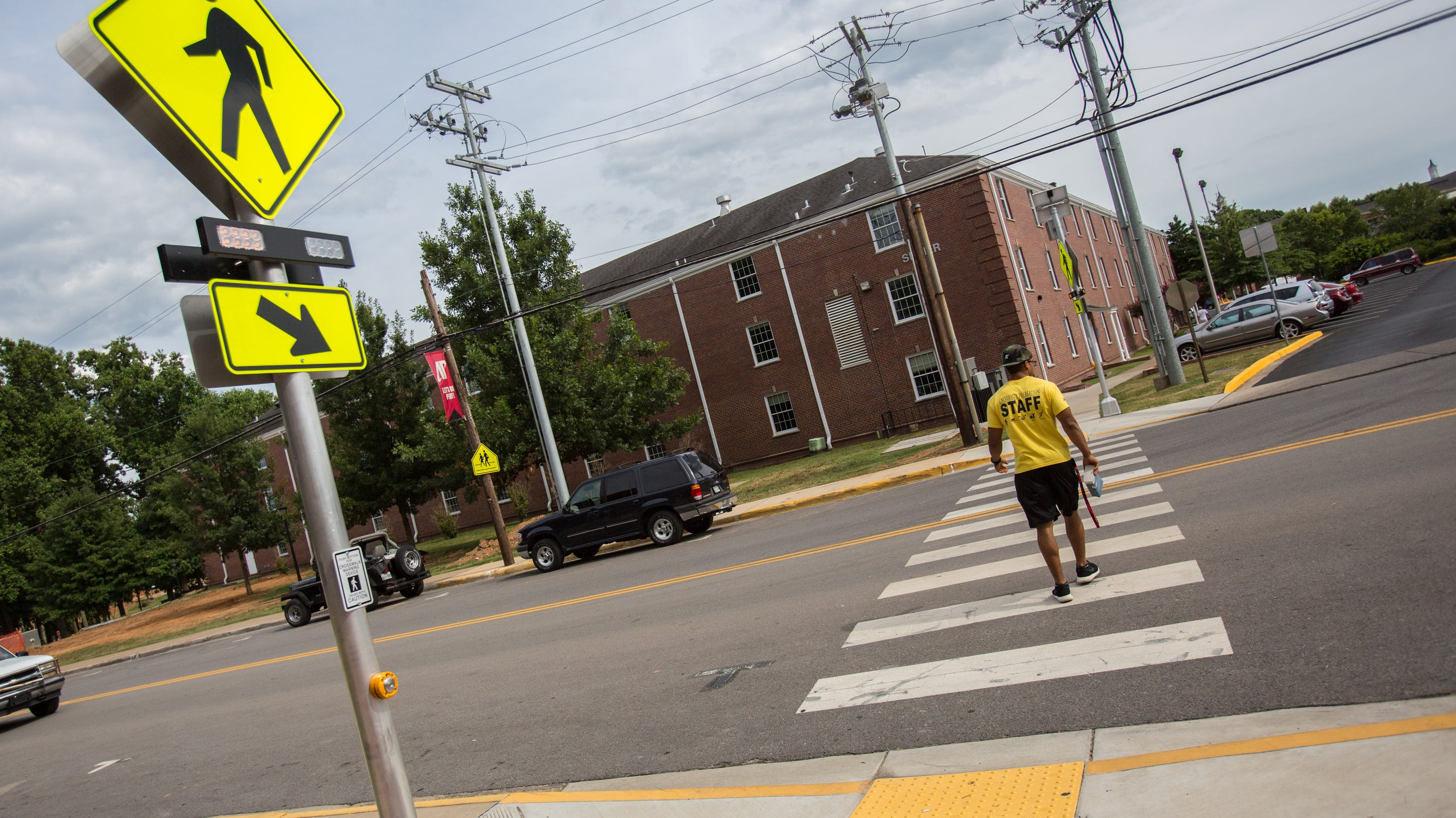 Apsu Installs Solar Powered Crosswalk Signals