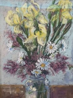 """Caryn Moore's pastel painting """"Spring Jewels"""""""
