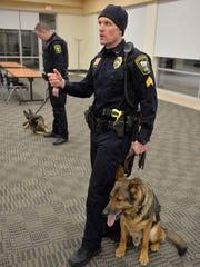 Sauk Rapids Police Sgt. Brent Bukowski, right, talks