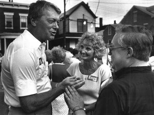 JULY 1986: Former baseball great Jim Bunning and his