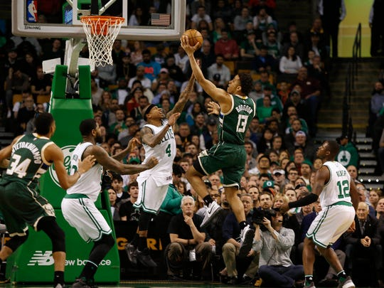 Bucks guard Malcolm Brogdon had a triple-double against the Boston Celtics.