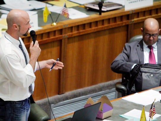 Rep. Bill McCamley, D-Mesilla Park, speaks in opposition