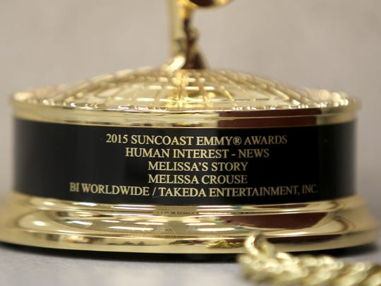 Melissa Crouse's Emmy she won for her part in a lung