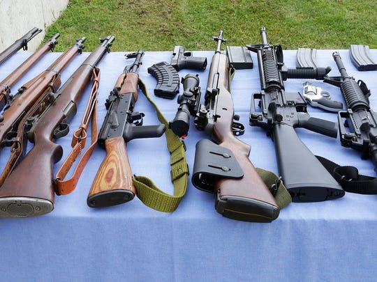 An assortment of weapons were available at the Coastal Gun Safety Seminar Tuesday July 12 at the Sheboygan Rifle and Pistol Club near Haven.