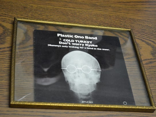 This Cold Turkey record sleeve that Grindstaff purchased