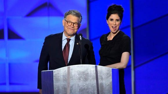 Sen. Al Franken, D-Minn., and comedian Sarah Silverman