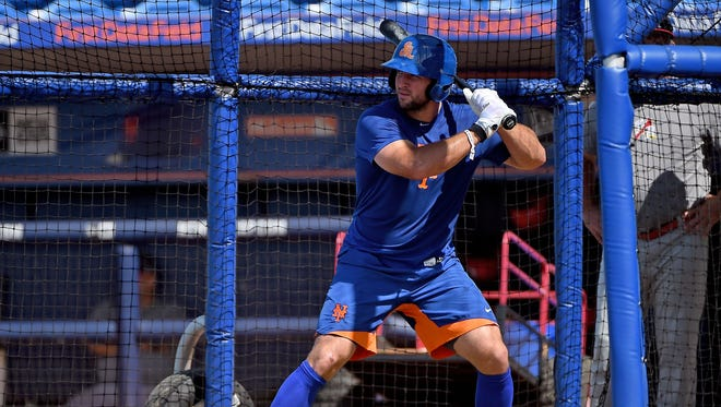 Tim Tebow makes his Florida State League debut as the DH.