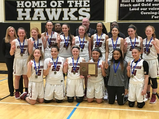 Elmira won its second consecutive Section 4 Class AA title March 3 with a win over Horseheads at Corning-Painted Post High School.