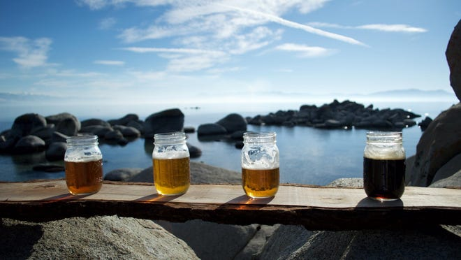 Ben Kimple and Gus Banuski, founders of Tahoe Brew Tours, are longtime adventure guides in the region. They are the tours' designated drivers.