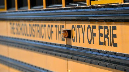 The Erie School District will continue to bus nonpublic elementary and middle school students while the district's students are enrolled in online-only instruction in September and October.