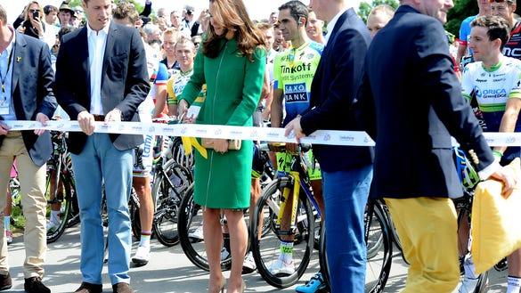 Duchess Kate at Tour de France sendoff