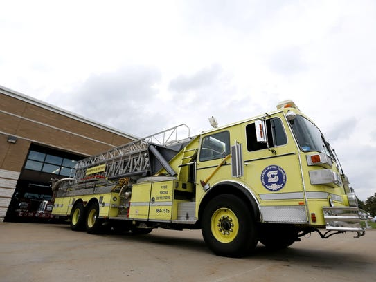 A ladder truck at Fire Station #6 can no longer be