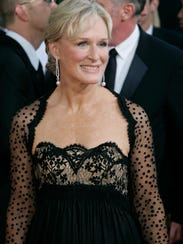 Glenn Close poses at the Golden Globe Awards in 2005.