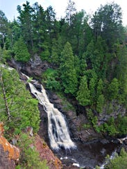 Big Manitou Falls in Pattison State Park in Douglas