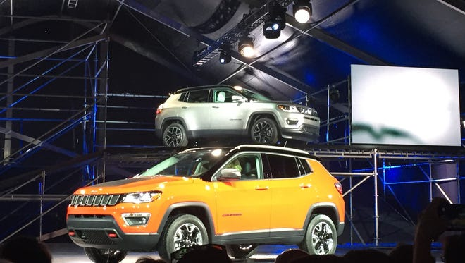 The 2017 Jeep Compass is revealed at the Los Angeles Auto Show on Nov. 17, 2016.