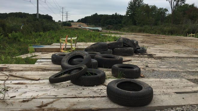 Livingston County Sheriff's Department officials say in July 2017 someone damaged large backhoes being used to dig Energy Transfer's Rover pipeline route. The site of the incident, which occurred on Pingree Road south of Schafer Road in Putnam Township, is shown in this photograph taken Thursday, Aug. 24, 2017.