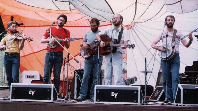The Rocky Mountain Oysters performing at the first Sioux River Folk Festival in 1979.