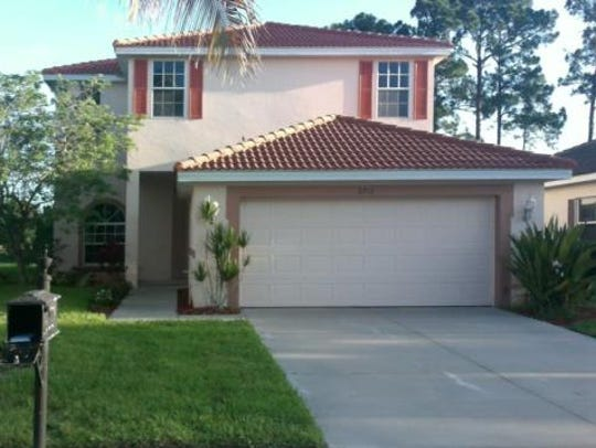 This home at 2712 Blue Cypress Lake Ct., Cape Coral,