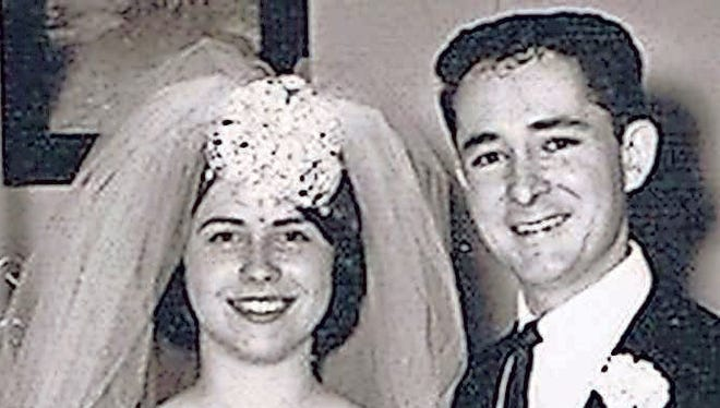 Reed and Pam Edwards Wedding March 11, 1966.