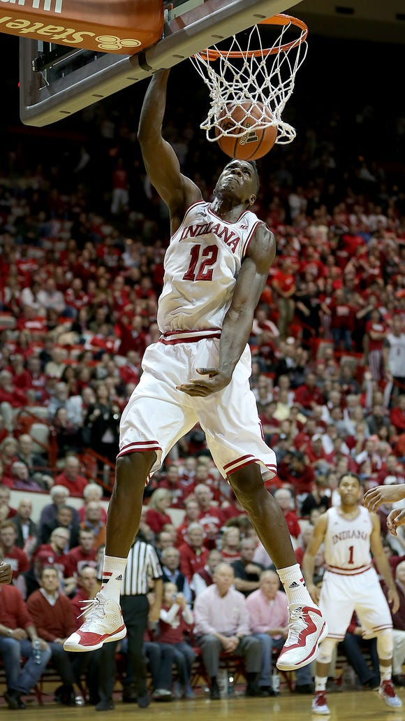 Could Indiana solve some of its rebounding problems by playing Hanner Mosquera-Perea (pictured) together with Emmitt Holt down low?