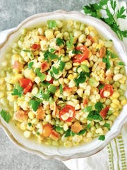 A bowl of Southern White Acre Pea Succotash is a great way to use leftover corn and peas.