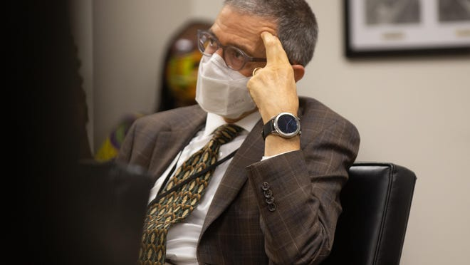 Shawnee County health officer Gianfranco Pezzino said Thursday that coronavirus cases in Shawnee County increased for a fifth straight week, but as he presented the COVID-19 update, he grew frustrated by Commissioner Bill Riphahn's responses.