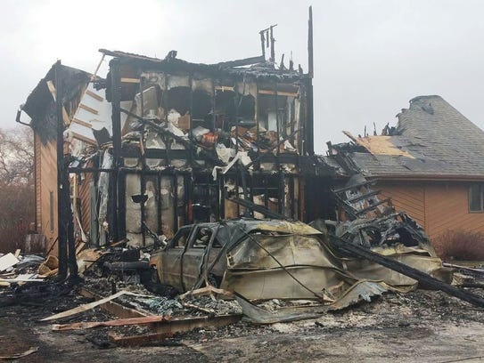 A Town of Sheboygan home was destroyed by fire on Christmas