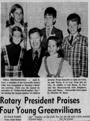 An article in The Greenville News on Nov. 12, 1969.