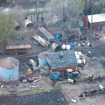 An aerial photo of Cricket Hollow Zoo in Manchester,
