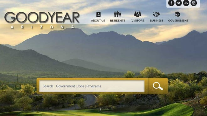 Goodyear's new city website.
