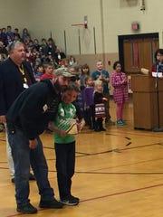 Student family members of local veterans presented