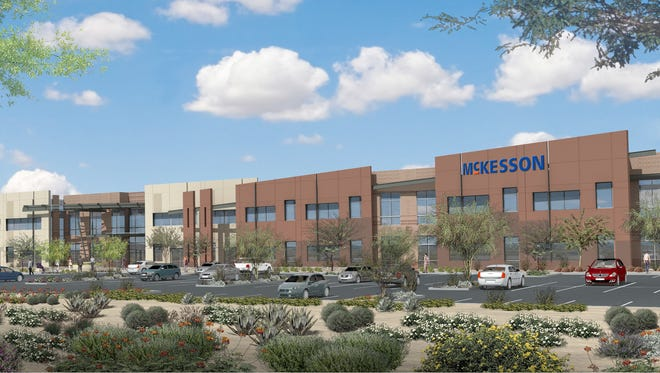 A rendering of McKesson's planned Arizona regional offices on the Salt River Pima–Maricopa Indian Community.