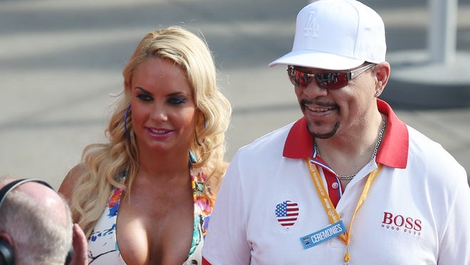 Ice-T and Coco Austin walk the red carpet before the Indianapolis 500.