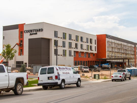 The Courtyard Marriott in Cedar City is under construction,