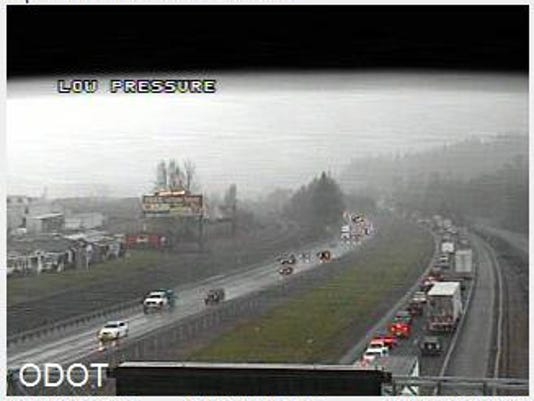 Crash slowing traffic on Interstate 5 NB