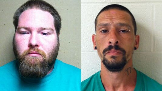 Paul Martin Hurst, left, and Cary Lee Edwards, right, are charged with attempted murder.