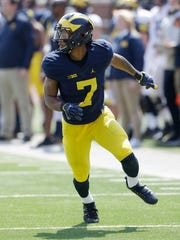 Freshman receiver Tarik Black is expected to see action early for Michigan.