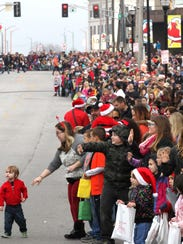 The Downtown Springfield Christmas Parade in 2014.