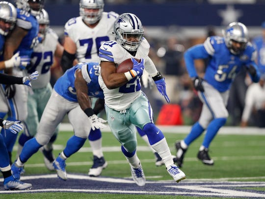 Seattle's defense will be faced with stopping the Cowboys' Ezekiel Elliott, returning this week from a six-game suspension.