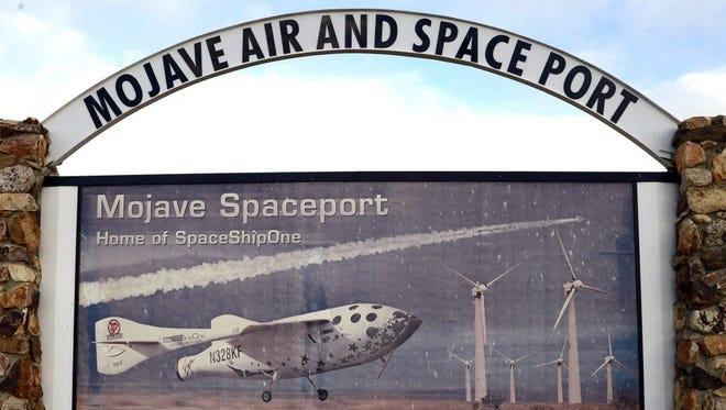 SpaceShipTwo failed over the Mojave.