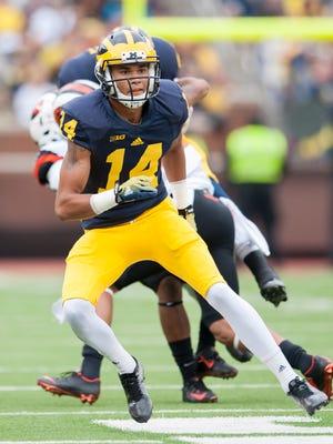 Michigan wide receiver Drake Harris