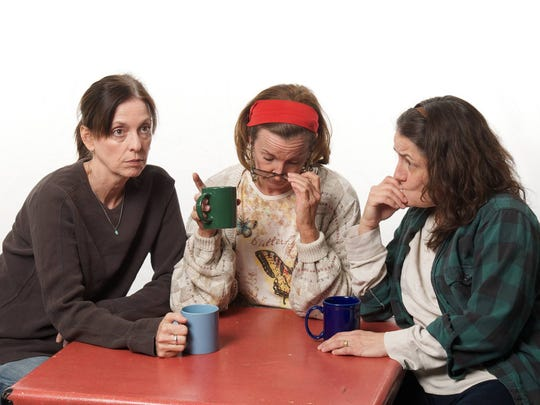 Katie McFadzen (from left), Cathy Dresbach and Maria Amorocho Weisbrod star in the Actors Theatre production 'Good People.'