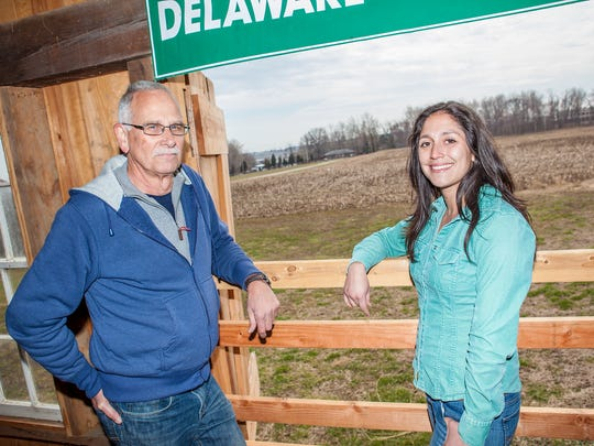 Steve Borleske, director of Delaware Greenways, and Penn Farm manager Becca Manning have multiple objectives for the historic farm.
